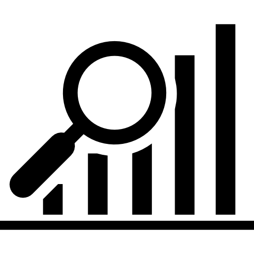 data-search-interface-symbol-of-a-bars-graphic-with-a-magnifier-tool